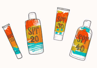 sunscreens bottle with spf information