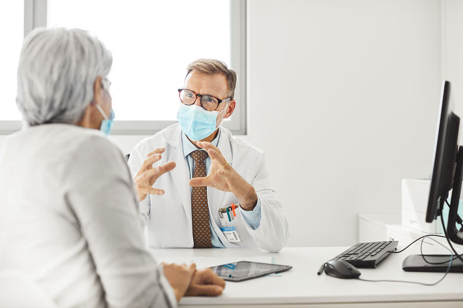 doctor explaining to patient
